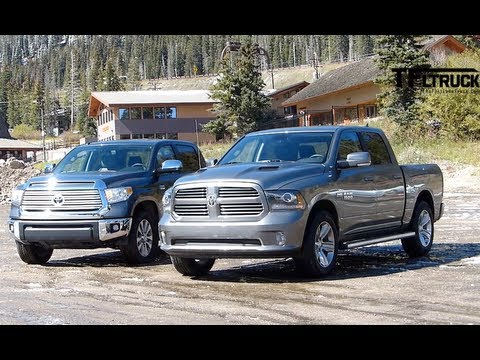 2014 Toyota Tundra vs Ram 1500 Towing Test