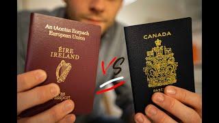 Getting a Canadian Passport vs Getting an Irish Passport