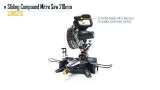 GMC Sliding Compound Mitre Saw 210mm