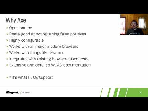 Using Axe to Add Accessibility Checks to Your Existing Selenium Tests Related YouTube Video