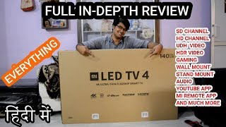 Xiaomi Mi TV 4, 55 inch 4K HDR TV FULL IN-DEPTH REVIEW | GAMING |TECH INFO #  36