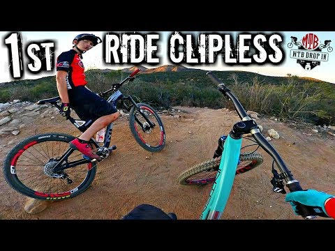 My First Ride On Clipless Mountain Bike Pedals Review | Clipless Vs. Flat MTB Pedals | Shimano SPD