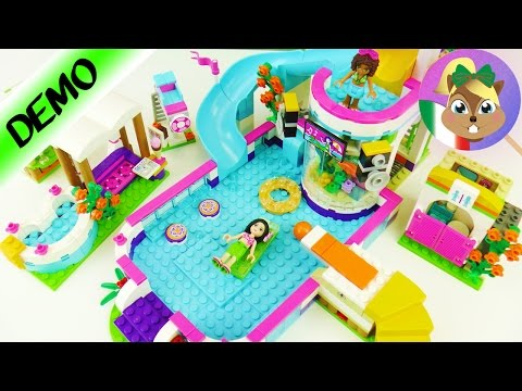 LEGO FRIENDS: piscina all'aperto con vasca idromassaggio! - Assaporiamo un pezzettino d'estate!