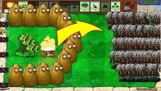 Plants Vs Zombies - 1 Threepeater vs 9999 Gargantuar Zombie