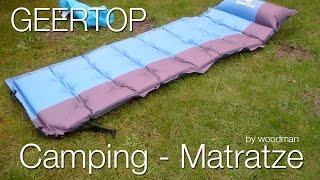 Geertop Selbstaufblasbare Camping Luftmatratze