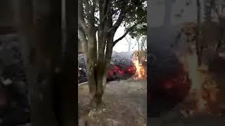 Volcán Pacaya: Flujo de Lava avanza lentamente hacia casas de el Patrocinio
