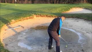 preview picture of video 'Iced Over Bunker Shot, Short Game Challenge!'