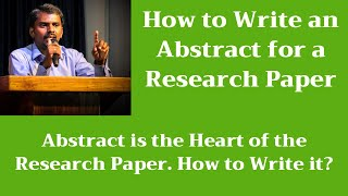 How to Write an Abstract for a Research Paper | Journal Article | M Milton Joe