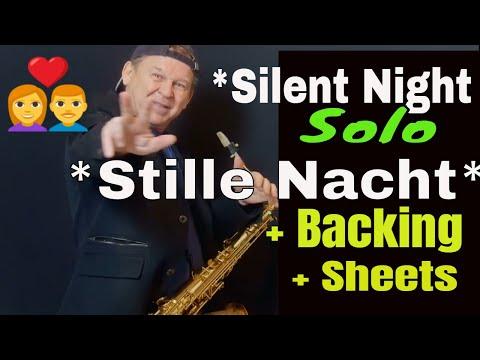 *Stille Nacht-Silent Night* Saxophon Solo Weihnachtslied + Backingtrack Noten sheets Tenor Alto