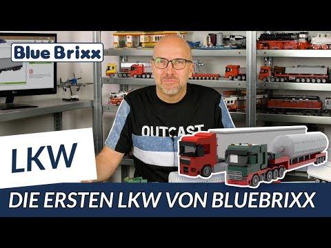 LKW Augsburg 2-Achs mit 3-Achs Koffer rot