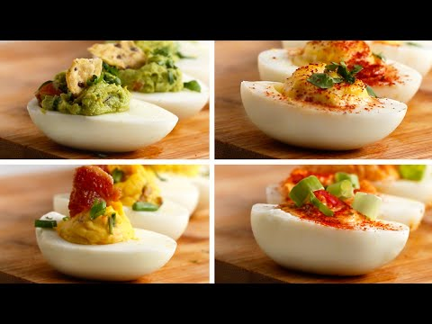 Video Deviled Eggs 4 Ways