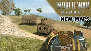 WORLD WAR HEROES - NEW MAPS ( PACIFIC ISLAND & FINLAND ) GAMEPLAY