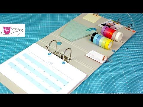 Kalender aus Ordner selber basteln mit kostenloser Druckvorlage