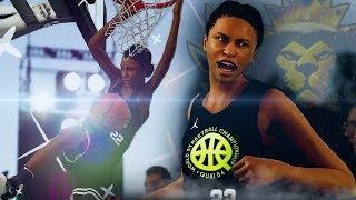 NBA Live 19 The One Career | JUWANNA MANN INSANE FEMALE DUNKER! | Road To ICON #1