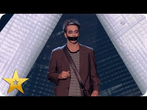 Tape Face leaves the audience speechless! | BGT: The Champions (видео)