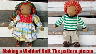DIY   Waldorf Doll: Tracing & Sewing The Pattern Pieces   Classic Sami Doll Pattern   Part 2