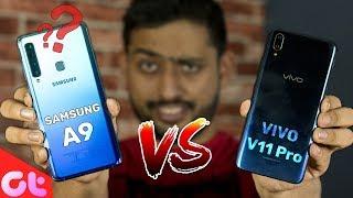 Vivo V11 Pro vs Samsung Galaxy A9 Comparison, Camera, Speed, Design, Battery