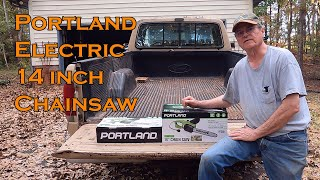 Portland Electric Chainsaw from Harbor Freight Review and Demonstration