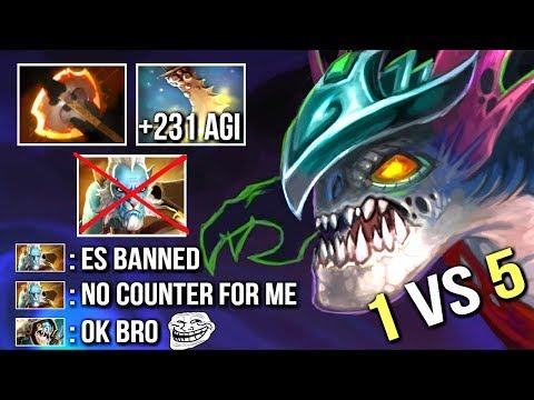 WTF Battle Fury Slark +230 AGI vs Phantom Lancer Epic 1v5 Comeback Top China Game Dota 2