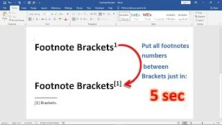 How to add brackets aroud all footnotes numbers in 5 seconds