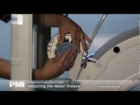 How to replace Evaporative Swamp cooler fan motor Belt
