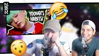 GUYS REACT TO BTS 'MIN YOONGI'S HABITS!' By Squishy Min Yoongi