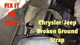 Jeep Broken Ground Strap