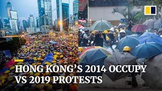 Hong Kong's 2014 Occupy Central vs 2019 protests