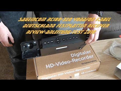 Sagemcom RCI88-320 Vodafon Kabel Deutschland Festplatten Receiver Review-Anleitung-Test 2018