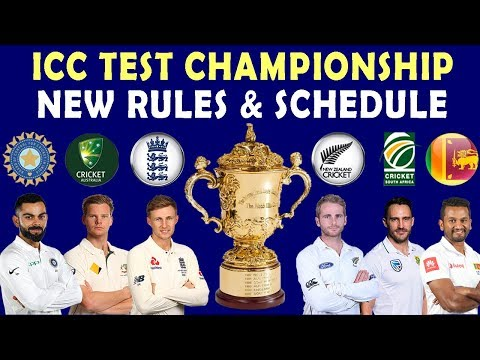 What is ICC Test Championship 2019 - Rules | Format | Points Table - Full Explaination Updated
