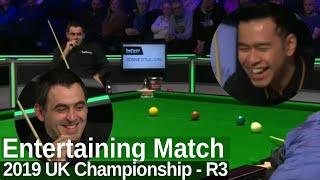Ronnie O'Sullivan Looks Sharp and Enjoys the Match   2019 UK Championship - Round 3