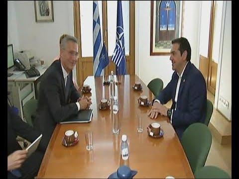 Τσίπρας – Στόλτενμπεργκ για τη συμφωνία με την ΠΓΔΜ και το ζήτημα των δύο Ελλήνων στρατιωτικών