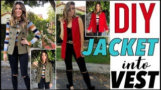 DIY: How To Cute a JACKET into a VEST- by Orly Shani