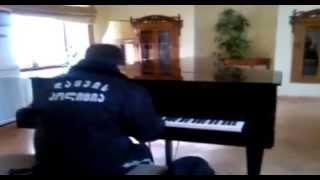 Смотреть онлайн Охранник библиотеки офигенно играет на фортепиано