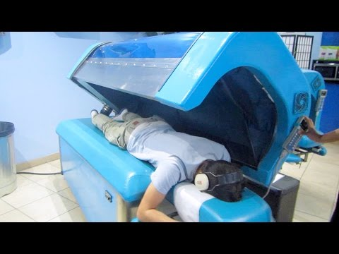 FIRST TIME IN THIS CRAZY WATER MASSAGE MACHINE..