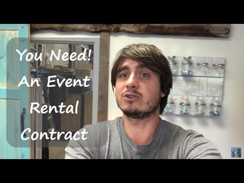 Starting An Event Business - How To Make A Contract