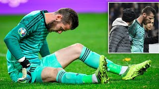 Manchester United's David de Gea injured in Spain's European Qualifier with Sweden