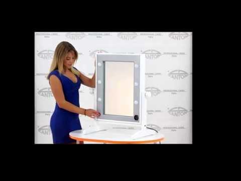 video LTV miroir de maquillage de table avec lumières professionnelles