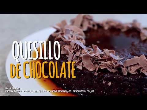 Quesillo de chocolate