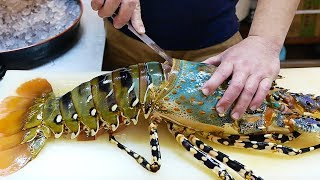 日本路邊小吃 - $600美元 巨大彩虹龍蝦 生魚片 沖繩海鮮