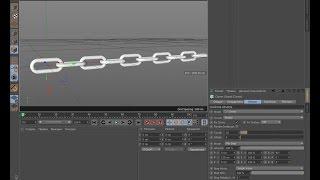 Моделирование цепи в Cinema 4D (chain in Cinema 4D)