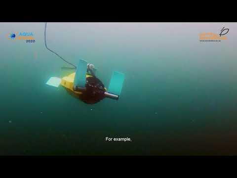 Her er en av robotene som er med i Cage-reporter-prosjektet. Foto og video fra SINTEF ACE underwater robotics.