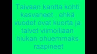 Juha Tapio Kaksi puuta Lyrics