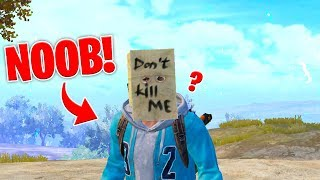 Pretending to be a NOOB in Pubg mobile for your Entertainment.