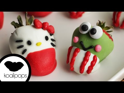 How to Decorate Adorable Hello Kitty Strawberries | Become a Baking Rockstar