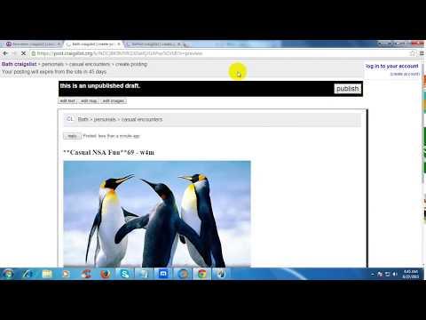 How to craigslist posting tutorial