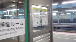 山陽本線岡山駅5番・8番のりばの喫煙ルーム平成28年1月17日