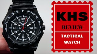 (4K) KHS TACTICAL WATCHES SENTINEL A WATCH REVIEW MODEL: KHS.SEAB.NB