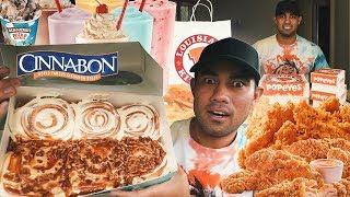 15000 Calorie Cheat Day | CRAZIEST Cinnamon Rolls EVER!