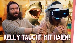 Kelly taucht mit Haien!